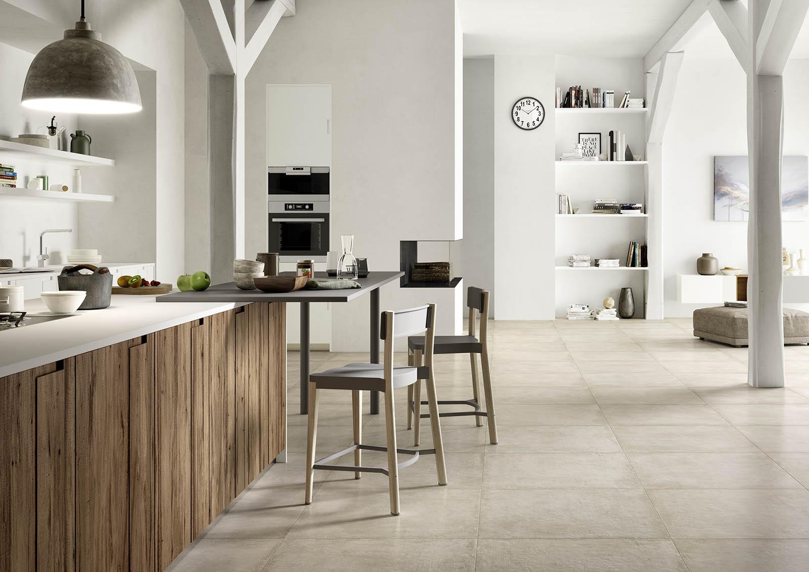 Pavimento in gres porcellanato ristrutturazione low cost - Pavimento per cucina ...